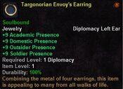 Targonorian envoy's earring