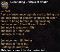 Resonating crystals health