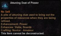 Attuning dust power