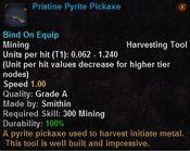 Pristine pyrite pickaxe