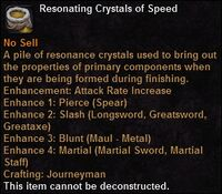 Resonating crystals speed