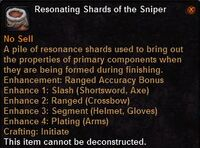Resonating shards the sniper