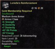 Lorielles Reinforcement