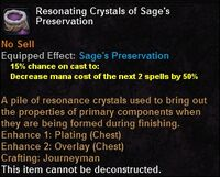 Resonating crystals sagespreservation