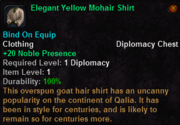 Elegant Yellow Mohair Shirt