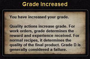 Hint grade increased