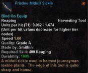 Pristine mithril sickle