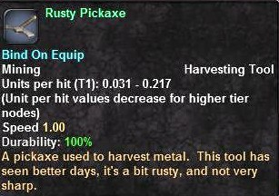 Rusty Pickaxe