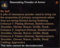 Resonating powder armor