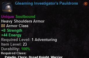 Gleaming Investigator's Pauldrons