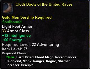 Cloth Boots of the United Races