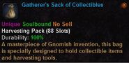 Gatherer's sack of collectibles