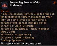 Resonating powder the marksman