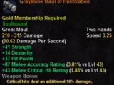 Graystone Maul of Purification
