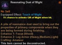 Resonating dust might
