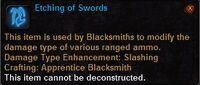Etching of swords