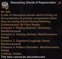 Resonating shards regeneration