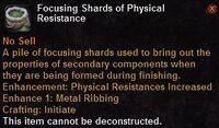 Focusing shard physical resistance