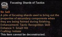 Focusing shard tactics