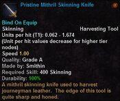 Pristine mithril skinning knife