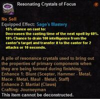 Resonating crystals focus
