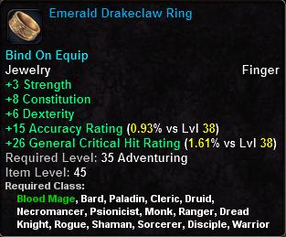 Emerald Drakeclaw Ring