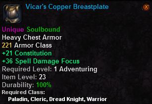 Vicar's Copper Breastplate