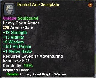 Dented Zar Breastplate