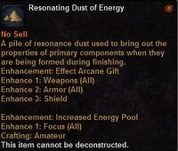 Resonating dust energy
