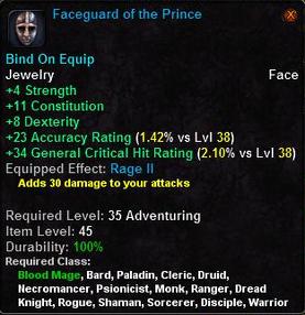 Faceguard of the Prince