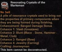 Resonating crystals marksman