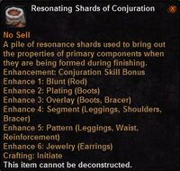 Resonating shards conjuration