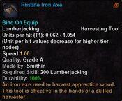 Pristine iron axe