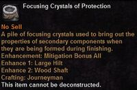 Focusing crystal protection