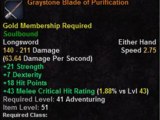 Graystone Blade of Purification