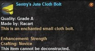1 Sentry's Jute Cloth Bolt