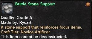 Brittle Stone Support