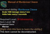 Manual of murderous cleave