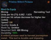 Pristine mithril pickaxe