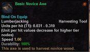 Basic novice axe