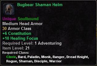 Bugbear Shaman Helm