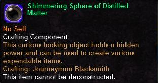 Shimmering Sphere of Distilled Matter