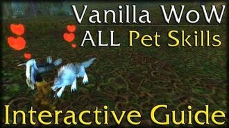 Vanilla WoW - All Hunter Pet Skills - Interactive Guide