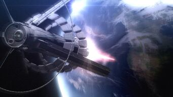 Vanquish-Review-Space-Station-Laser-Shooting-At-Earth