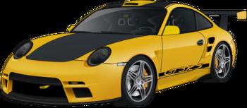 Porsche 911 GT3 RS yellow turbo