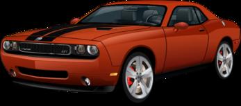 Dodge Challenger SRT8 orange stock