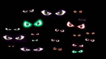 Free Vector Stock Set Of Scary And Creepy Halloween Eyes In The Dark Vector Stock Wiki Fandom