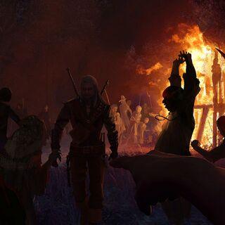 Кметы сжигают Абигайл заживо