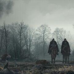 Геральт и Весемир в трейлере «Убивая монстров»