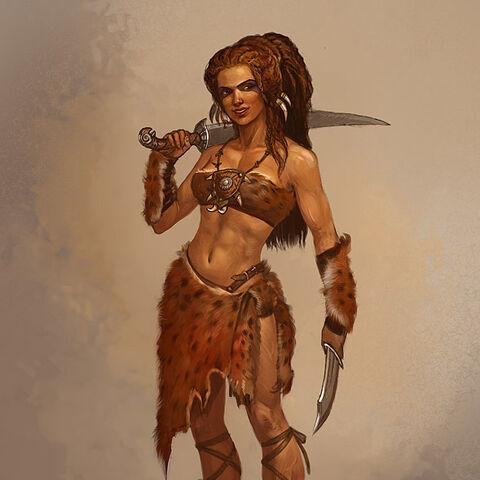 Зерриканская воительница, рисунок <a rel=